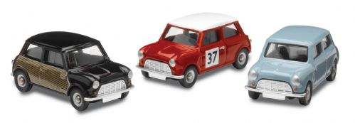 Corgie CR5003  piece Mini Collection - Speedwell blue, Radford Wicker Mini & Monte Carlo Rally Mini